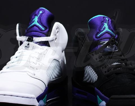Air Jordan V: Grape vs. Black Grape Comparison