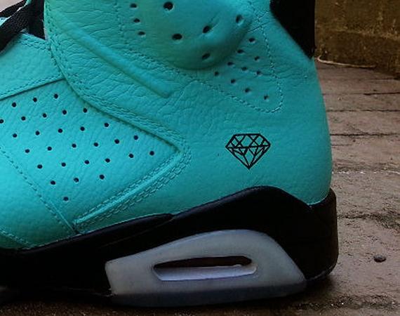 "41eed1ad30e2a8 Air Jordan VI  ""Tiffany"" Customs by Ecentrik Artistry - Air Jordans ..."