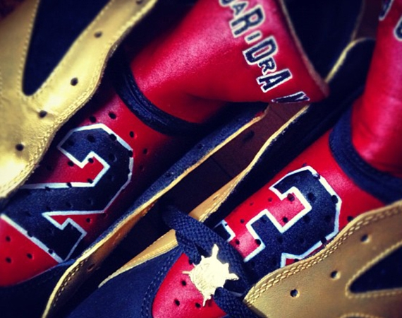 Air Jordan VII 92 Champions Customs by El Cappy