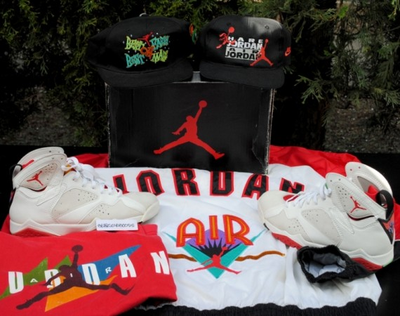Air Jordan VII Hare   OG Pair & Matching Apparel on eBay