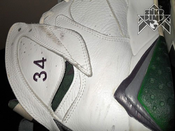 Air Jordan VII: Ray Allen Milwaukee Bucks Home PE