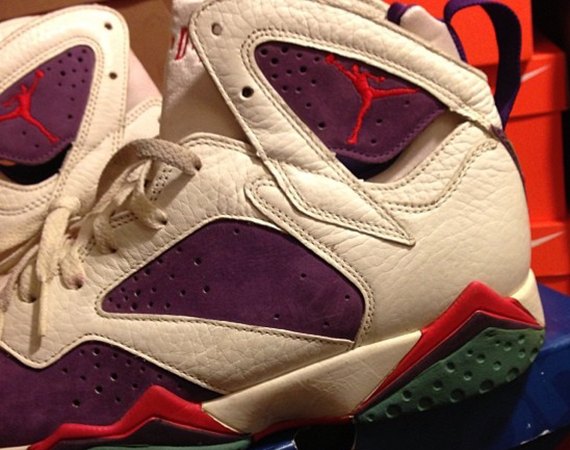 Air Jordan VII: White  Purple  Red  Green | Unreleased OG Sample