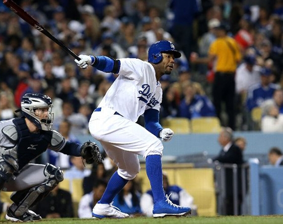 "Jimmy Rollins & Carl Crawford Wearing Jordan 6 Rings ""Jackie Robinson"" PEs"