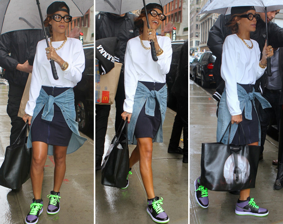 Rihanna Wearing Air Jordan 1 Joker