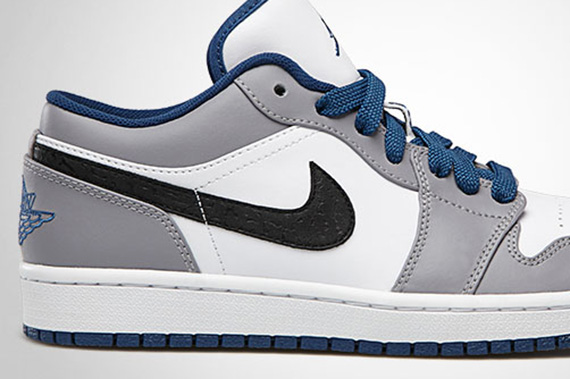 Air Jordan 1 Low: White – True Blue – Cement Grey – Black