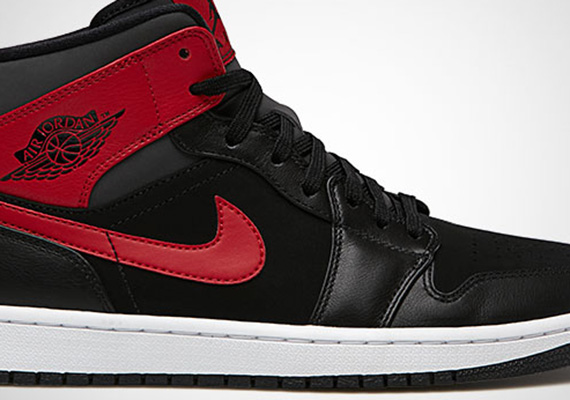 Air Jordan 1 Mid: Black – Gym Red – Anthracite