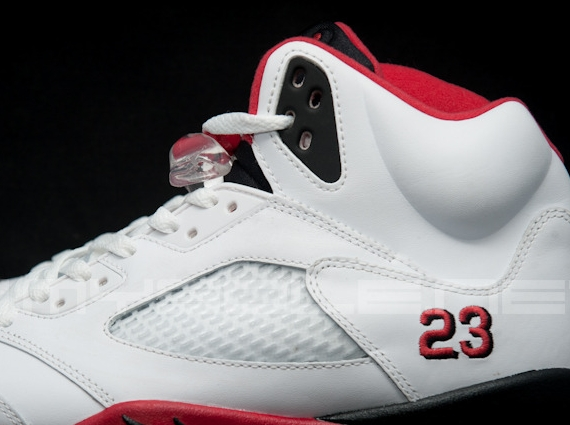"""3add2dac179251 The next Air Jordan 5 style on the menu is this one. The pair is  affectionately known as the Air Jordan 5 """"Fire Red"""""""