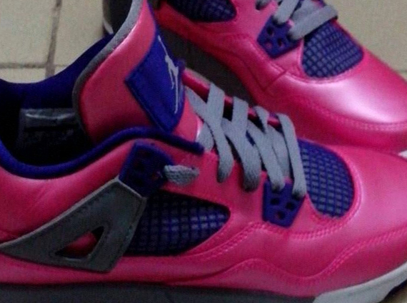 Air Jordan IV GS: Pink   Purple   Navy