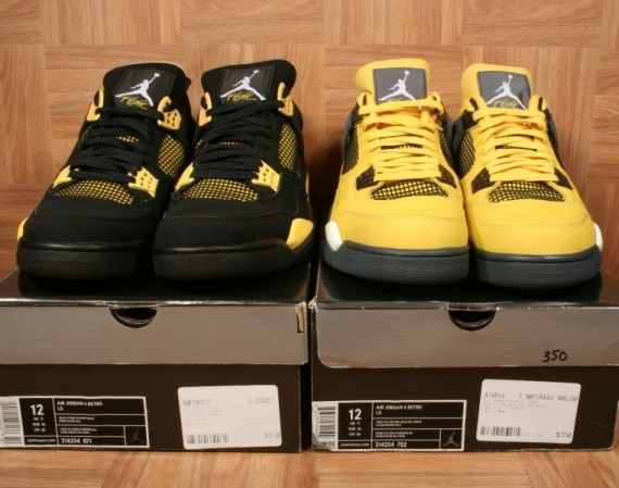 Air Jordan IV Thunder and Lightning   Available on eBay