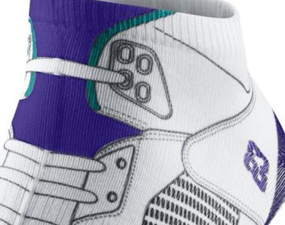 Air Jordan V Grape Socks