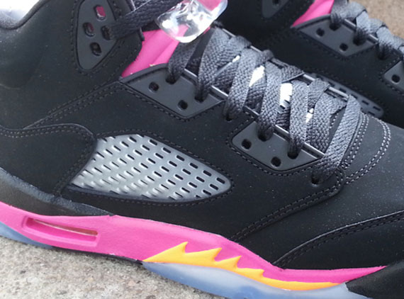 Air Jordan V: Black  Bright Citrus  Fusion Pink | Arriving at Retailers