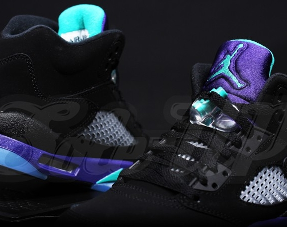 Air Jordan V GS: Black Grape