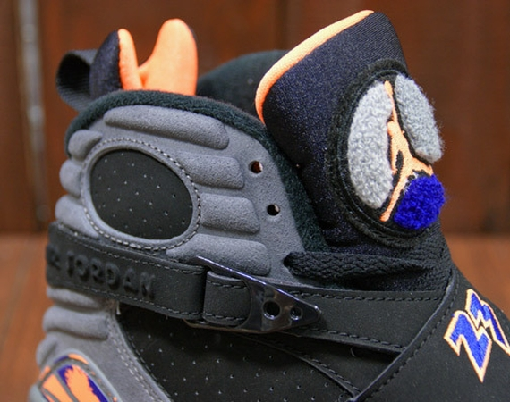 Air Jordan VIII: Black   Bright Citrus   Deep Royal Blue