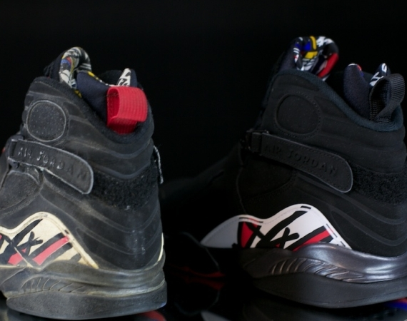 "purchase cheap 0cbb2 5890e What are the differences between the original version and the 2013 retro of  the Air Jordan VIII ""Playoffs""  This photo set should help you out with  that, ..."