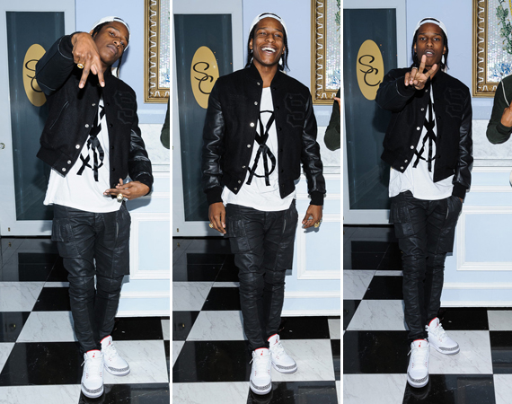 A$AP Rocky Wearing Air Jordan III White/Cement