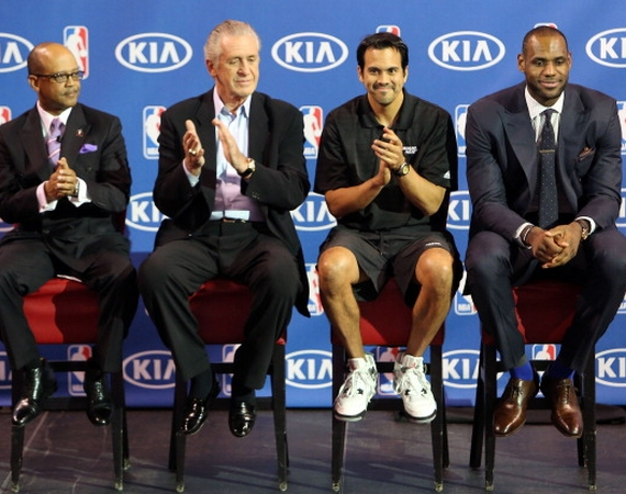 Erik Spoelstra Wears Air Jordan IV White/Cement @ LeBron James MVP Award Ceremony