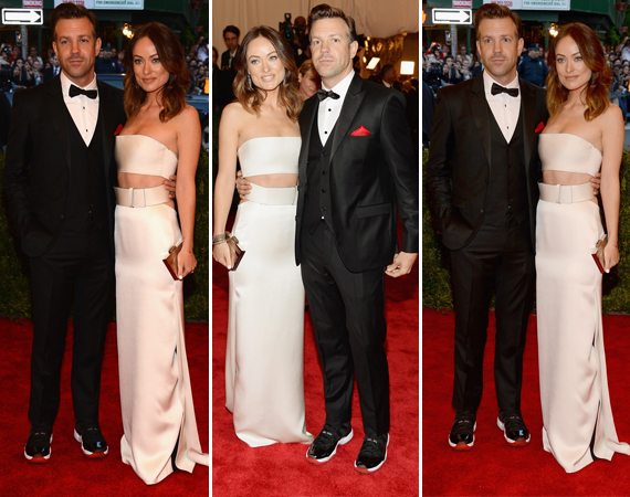 Jason Sudeikis Wearing Air Jordan XI Bred @ Met Gala 2013