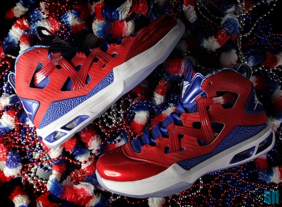 official photos fd429 ac463 The Jordan Melo M9 is taking a trip to Puerto Rico this summer, donning a  red, white, and blue colorway that will be in stores just before the Peurto  Rican ...