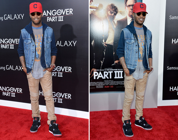 Kid Cudi Wearing Air Jordan IV Bred