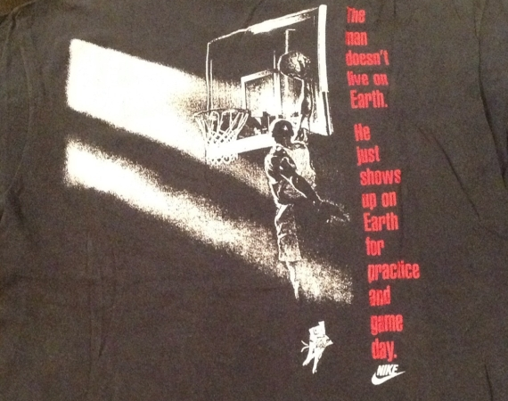 Vintage Gear: Nike Air Jordan Earth Shirt