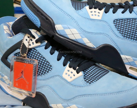 """buy popular 3a72d 26792 The """"UNC"""" Air Jordan IV finally brings the white columbia blue look over to  the Air Jordan IV. At the original time of the AJ4 s release, the line  hadn t ..."""