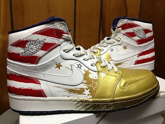 Dave White x Air Jordan 1 Wings For The Future Gold Auction Edition