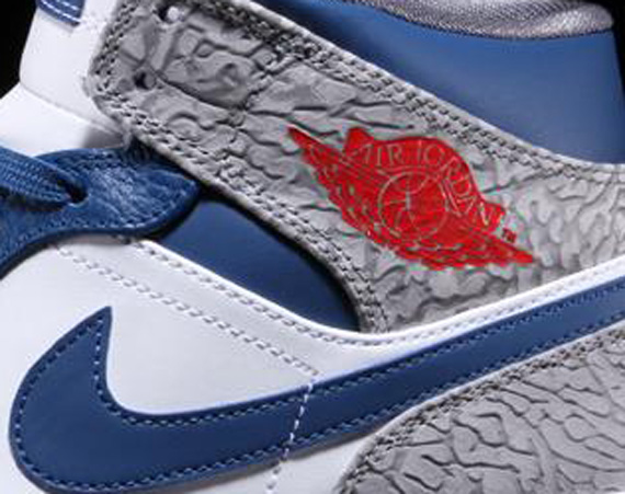 "0be3d087209 Air Jordan 1 Mid  ""True Blue"" - Air Jordans"