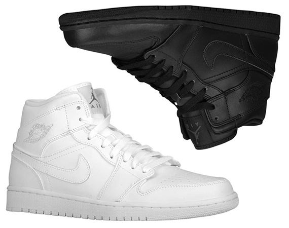 Air Jordan 1 Mid: White + Black | June 2013