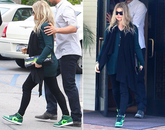 Fergie Wearing Air Jordan 1 Phat