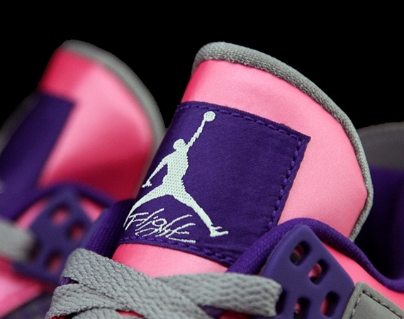 Air Jordan 4 GS: Pink   Purple