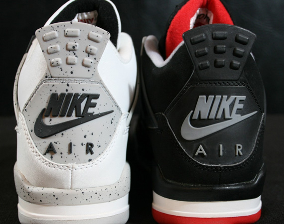 Air Jordan IV: White/Cement + Bred   1999 Retros on eBay