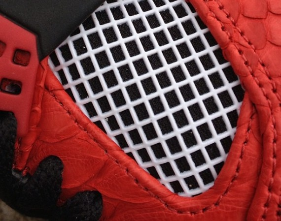Air Jordan IV: Red Python/Incomparable by JBF Customs   Teaser