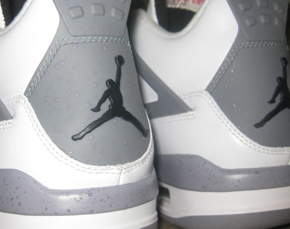Air Jordan IV: White/Cement Grey Speckle Sample