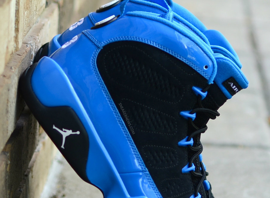 "buy popular 5b071 ee639 The Air Jordan IX ""Photo Blue"" was a sneaker that went to retail in two  different versions, the white bottom and later the factory screw-up black  bottom."