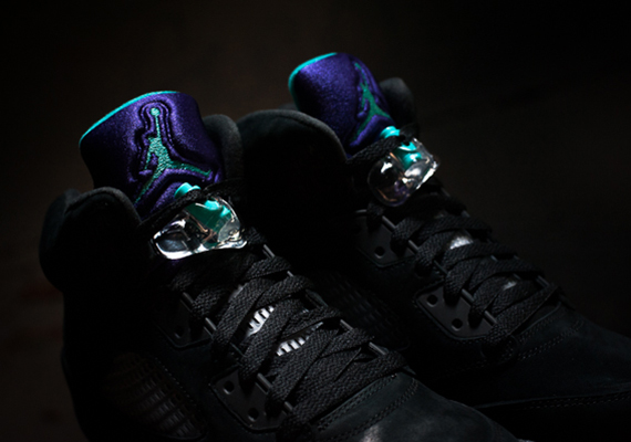 "competitive price ddf0b a4f0c The Air Jordan V ""Black Grape"" releases tomorrow, June 15th. With the  traditional  Grape  colorways laying atop the new all black nubuck upper,  the shoe ..."