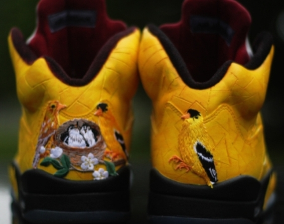 "Air Jordan V: ""Finch"" Customs by Rocket Boy Nift"