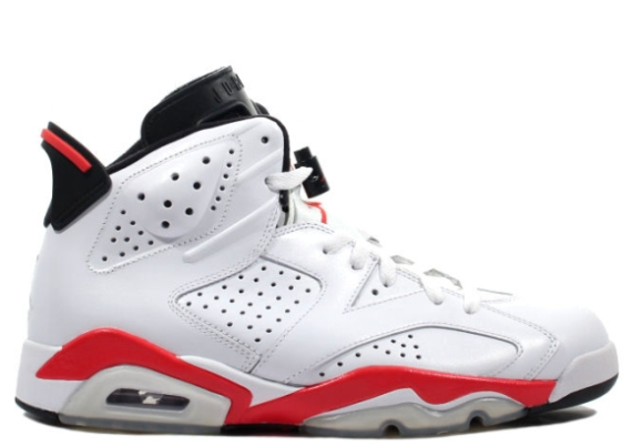 Air Jordan VI: White/Infrared   Releasing February 2014