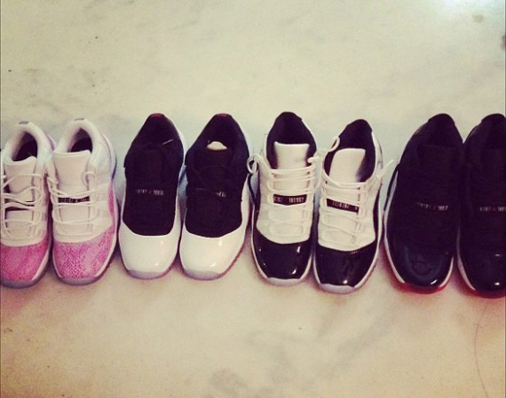 Teyana Taylor Shows Off Air Jordan XI Collection