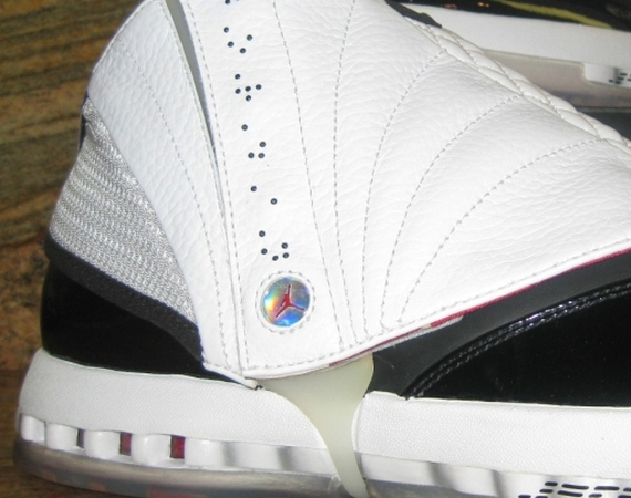 Air Jordan XVI Retro: Black – Gym Red – White – Metallic Silver | Unreleased Sample
