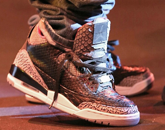 Air Jordan III: Black Python for Wale by JBF Customs