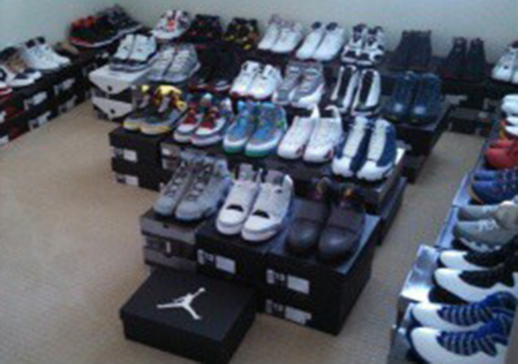 Colin Kaepernick Shows Off His Sneaker Collection