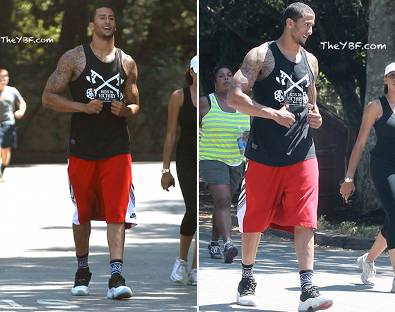 Colin Kaepernick Wearing Air Jordan XI Low
