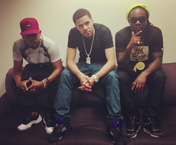 Kendrick Lamar and J.Cole in New Air Jordan Retros