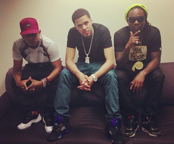 Kendrick Lamar and J.Cole in New Air Jordan Retros