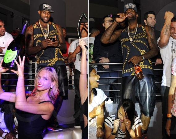 LeBron James Wearing Air Jordan III Bright Crimson for Heat Championship After Party