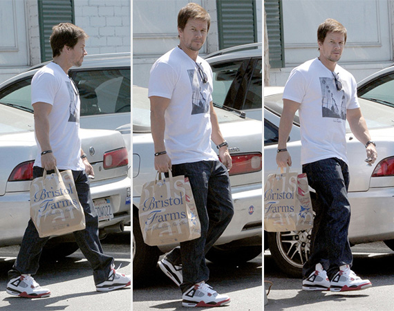 Mark Wahlberg Wearing Air Jordan IV Fire Red