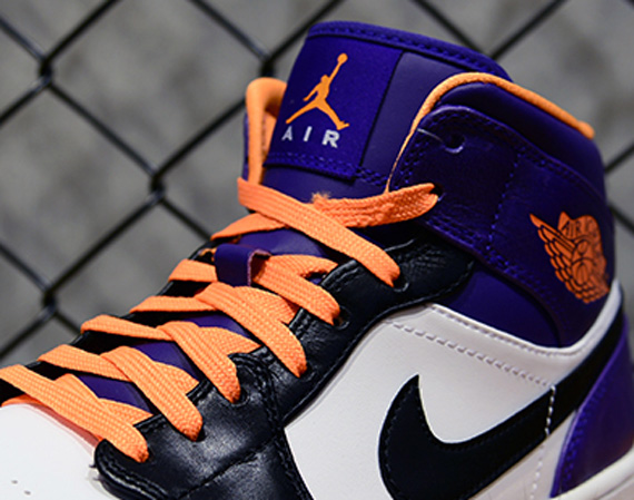 new style 95209 85751 ... The Air Jordan 1 Mid has had a strong showing as of late, heating up  Air  Jordan 1 (I) Mid Color White Bright Citrus-Court Purple-Black ...