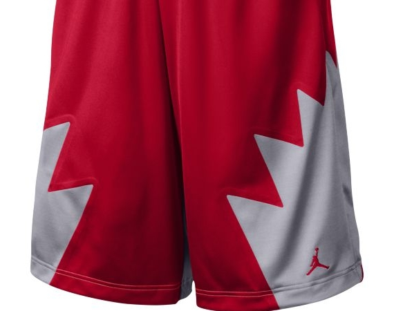 59d7056024c Appropriating the fighter jet spikes of the Air Jordan V is this new set of Jordan  Brand basketball shorts. As you can see, there are a couple of red based ...