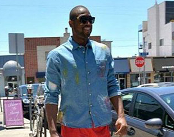 reputable site 2e3c0 628d4 Dwyane Wade was caught red-handed, or red-footed rather when the former Jordan  Brand athlete was photographed in his ex-brand s upcoming Air Jordan IV    ...