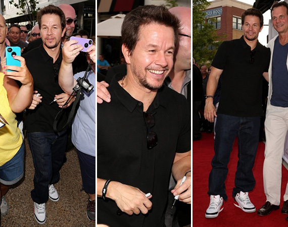 "Mark Wahlberg Wearing Air Jordan III ""Fire Red"""
